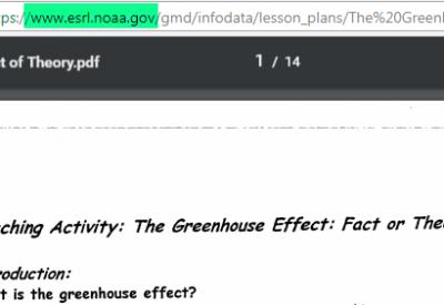 NOAA_GreenhouseGasTheoryOfficialStatement